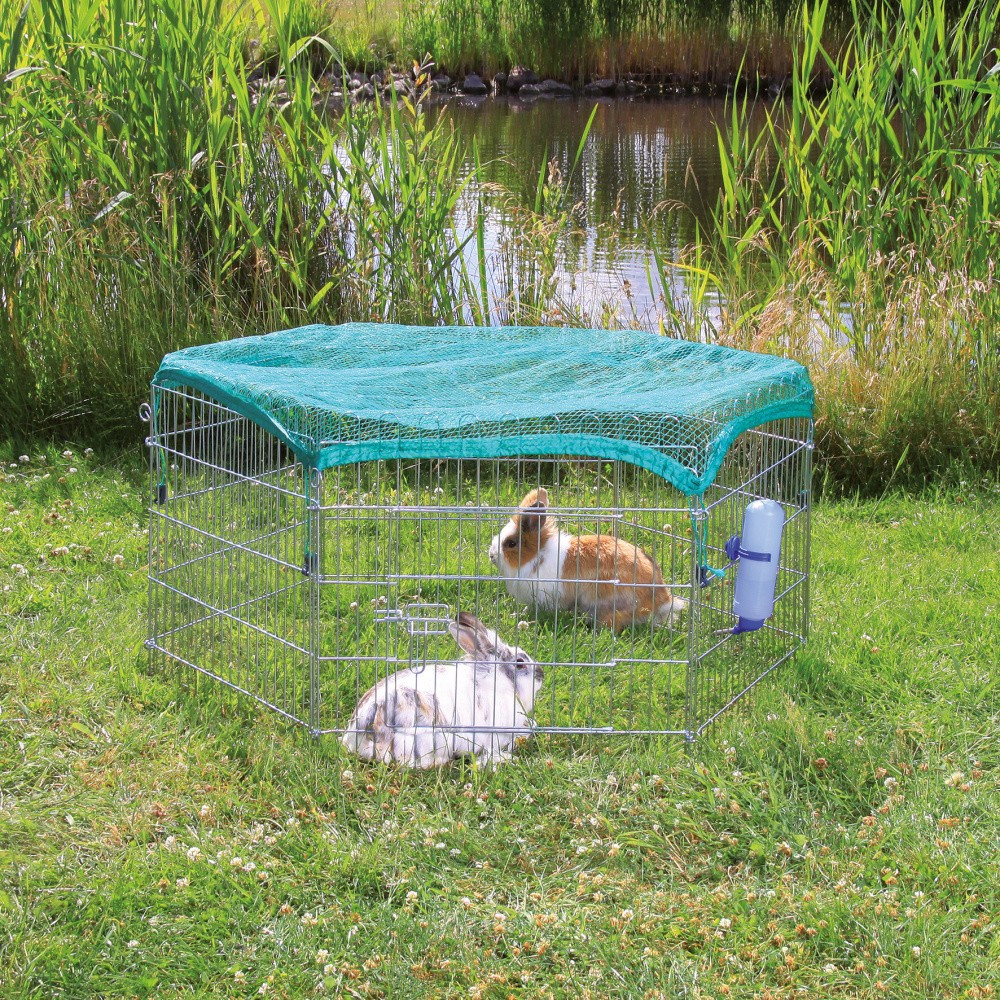 Enclos avec filet de protection ø 126 x 58 cm Transport et cage Trixie TR-6253