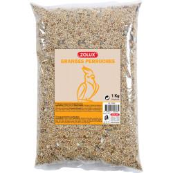 zaad voor grote parkieten. 1 kg. zak voor vogels. zolux ZO-139038 Nourriture graine