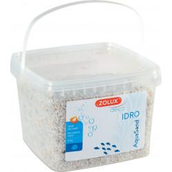 zolux Decorative gravel. 2-3 mm . white. Ashewa aquaSand . 5 kg. for aquarium. Soils, substrates, substrates