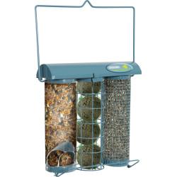 zolux Trio feeder Azur. 20 x 9 x height 22.5 cm . for birds Outdoor feeders