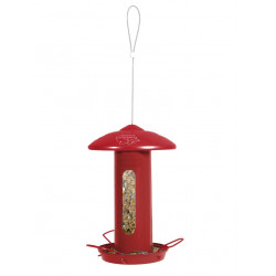 zolux Solo metal bird feeder. red. H 44 cm. for birds. Outdoor feeders
