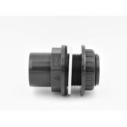 SO-516040 Plimat ø 40 mm Traversée de paroi PVC 50/40 mm et 1 pouce 1/2 - 40 mm Pasamuros de PVC
