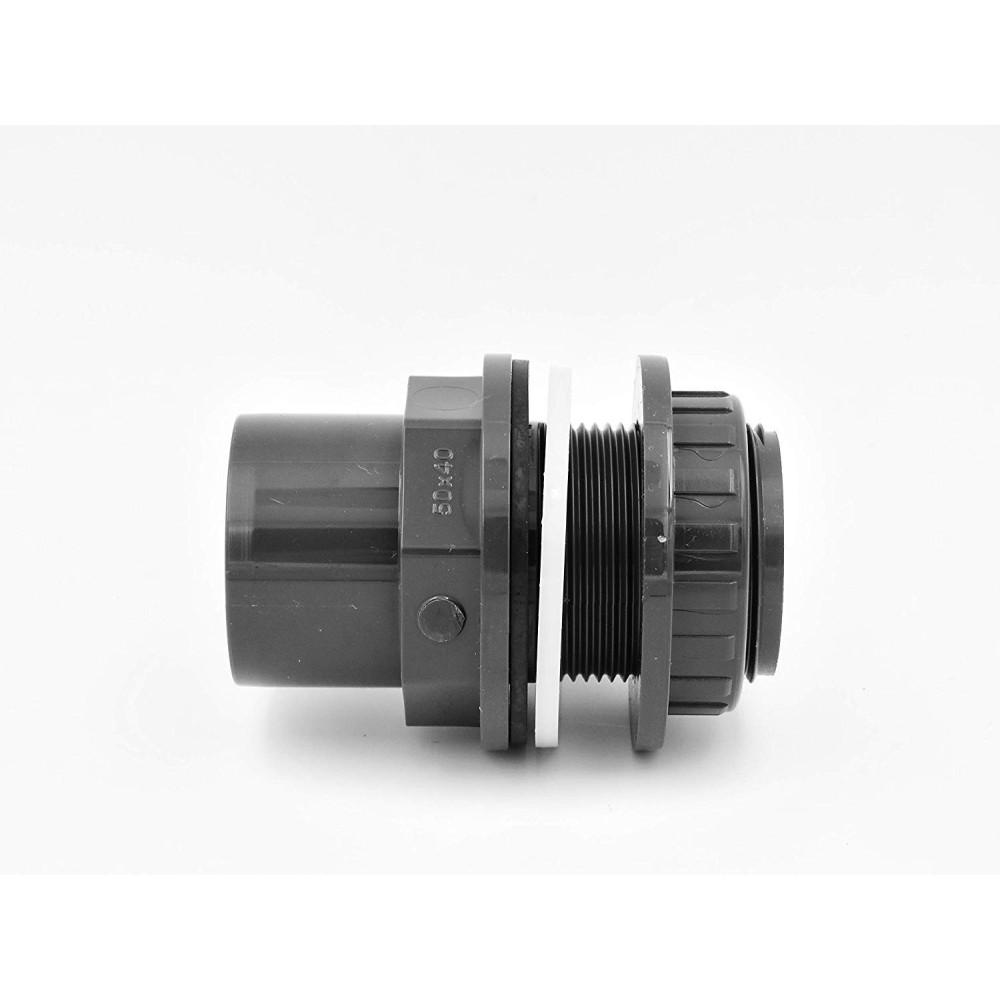 """Traversée de paroi PVC 32/25 mm X 1"""" - 25 mm. Traversée de Paroi PVC Plimat SO-516025"""