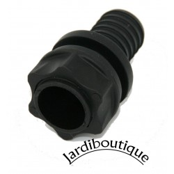 Interplast IN-STPAR34 Straight connector + nut + seals - wall feed-through - for 19 mm pipe PVC wall feed-through