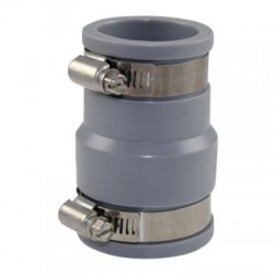 Interplast IN-SE045-038 FF soft PVC multi-material reducer fittings from 38 to 43 mm and 30 to 36 mm grey PVC drainage connec...