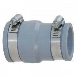 Interplast FF soft PVC multi-material reduction fittings 50 to 56 mm and 30 to 36 mm grey PVC drainage connection