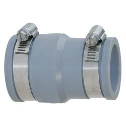 Interplast Raccords réduction multi-matériaux en PVC souples FF de 50 à 56 mm et 30 à 36 mm gris SE058-038 Raccord PVC évacua...
