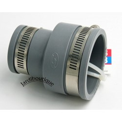 Raccords réduction multi-matériaux en PVC souples FF de 50 à 56 mm et 30 à 36 mm gris Raccord PVC évacuation  Interplast IN-S...