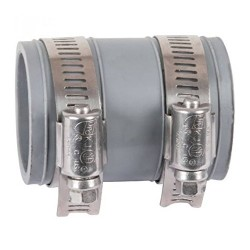 Multi-material flexible PVC fittings diameter 50 to 58 mm PVC drain fitting Interplast IN-S058