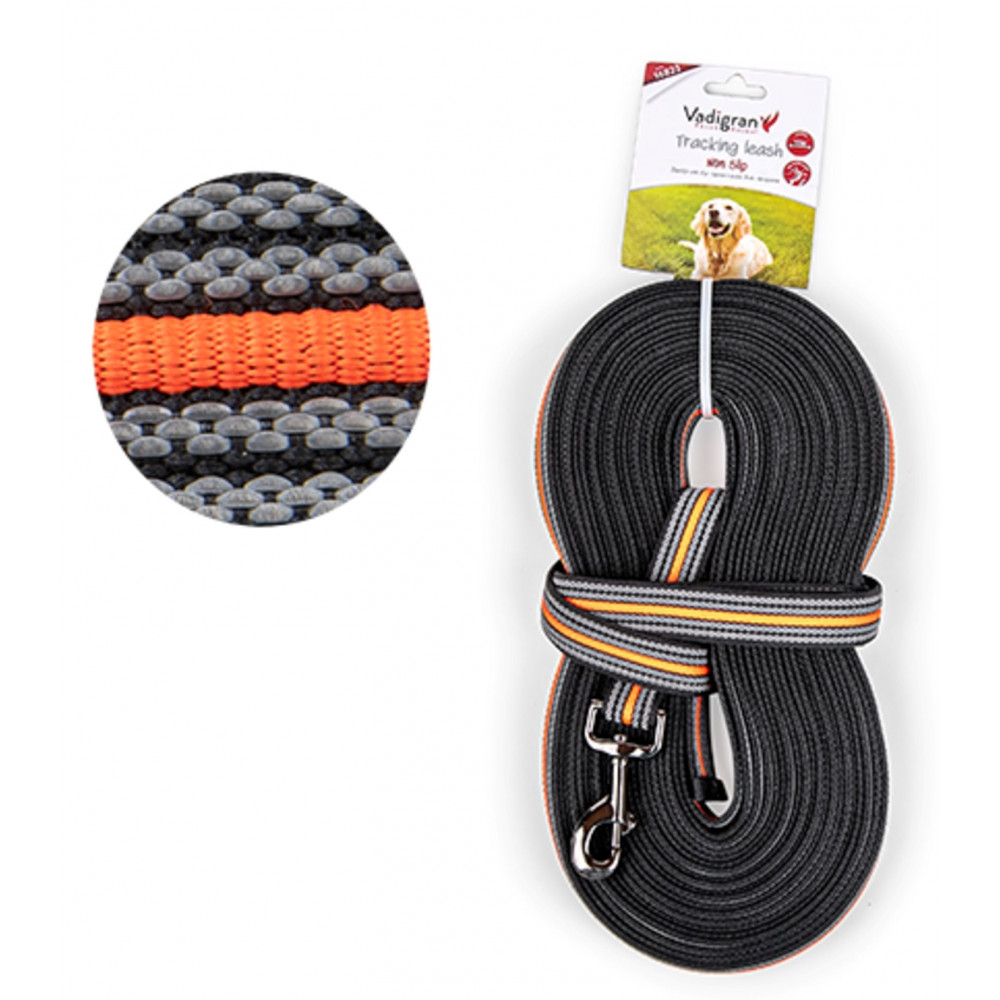 Vadigran Nylon training lead. 15 meters x 25 mm orange. for dogs. dog leash