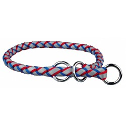 Trixie collier L-XL 52-60 cm ø18 mm semi etrangleur bleu-rouge TR-13642 Collier