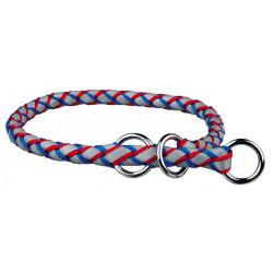 collier semi etrangleur L-XL 52-60 cm ø18 mm bleu-rouge Collier et laisse Trixie TR-13642