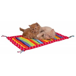 a Play mat, polar fiber - size 55 × 37 cm - cat - random color Trixie TR-45632 Games