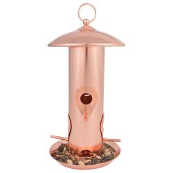 Esschert Design Copper plated seed feeder. Height 30.5 cm. for birds. Outdoor feeders