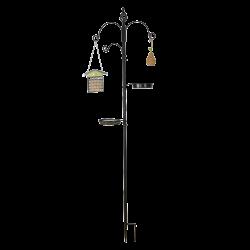 Esschert Design Bird feeder station, Size L. Height 2 meters. Outdoor feeders