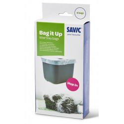 savic Disposable Bag it Up A3354, for house Hop In. 6 bags. for cat. litter accessory