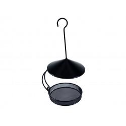 Vadigran Besie schwarzes Vogelfutterhaus zum Aufhängen. ø 18 cm H 22,5 cm. für Vögel. VA-13963 Outdoor-Feeder