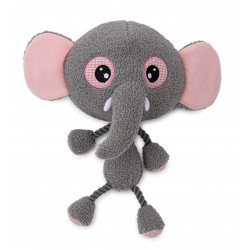 Vadigran Elly elephant plush 30 cm, toy for dogs. Peluche pour chien