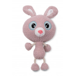 Vadigran Rakki Rabbit plush 30 cm, toy for dogs. Peluche pour chien