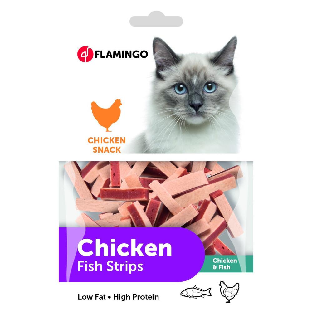 Flamingo friandise sandwich pour chat au poulet et poisson 85 g FL-502933 Friandise chat