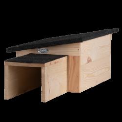 Esschert Design Maison pour hérisson avec tunnel d'accès. Parc et jardin