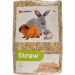 Flamingo Pet Products Straw 1 kg - 30 Liters for rodents. Hay, litter, shavings