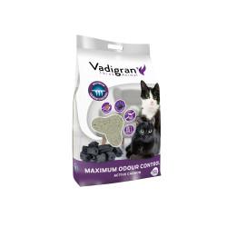 Vadigran Bentonite cat litter with maximum odour control. 12 litres or 12 kg. cat litter. Litter