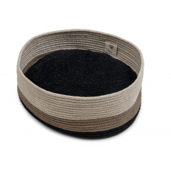 FANTAIL Caramel Berber basket for cats or small dogs. Sleeping