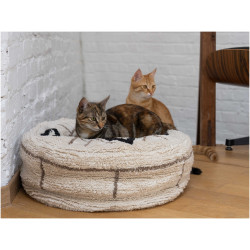 FANTAIL Pouf Berber caramel ø 50 cm. for cats or small dogs. Sleeping