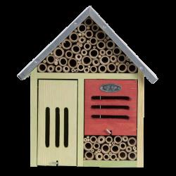 Esschert Design Hôtel à insectes, taille L, avec brosse de nettoyage. Hôtels à insectes
