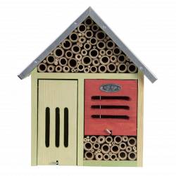Esschert Design Insect hotel, size L, with cleaning brush. Insect hotels
