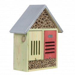 Esschert Design Insect hotel, size XL, with cleaning brush. H 38 cm. Insect hotels
