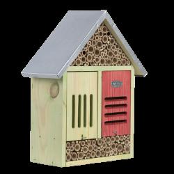 Esschert Design Insektenhotel, Größe XL, mit Reinigungsbürste. H 38 cm. ED-WA77 Insektenhotels