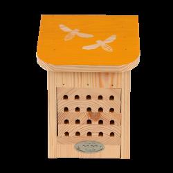 Esschert Design Bienenhaus, mit farbigem Dach mit Bienensilhouette. ED-WA79 Abeilles