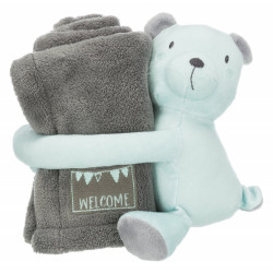 Trixie Junior Cozy set, blanket and toy, for dog. Peluche pour chien