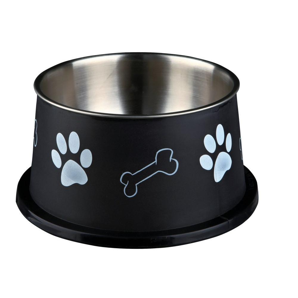 Ecuelle pour chiens à longues oreilles, acier inox/plastique Accessoire alimentaire Trixie TR-25247