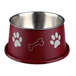 Trixie 0.9 litre ø 19 cm Ecuelle pour chiens à longues oreilles, acier inox/plastique - couleur aléatoire. TR-25247 Gamelle, ...