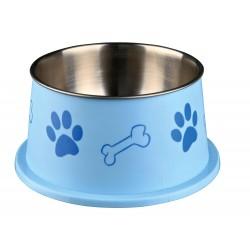 une Ecuelle pour chiens à longues oreilles, acier inox/plastique - couleur aléatoire. Accessoire alimentaire Trixie TR-25247