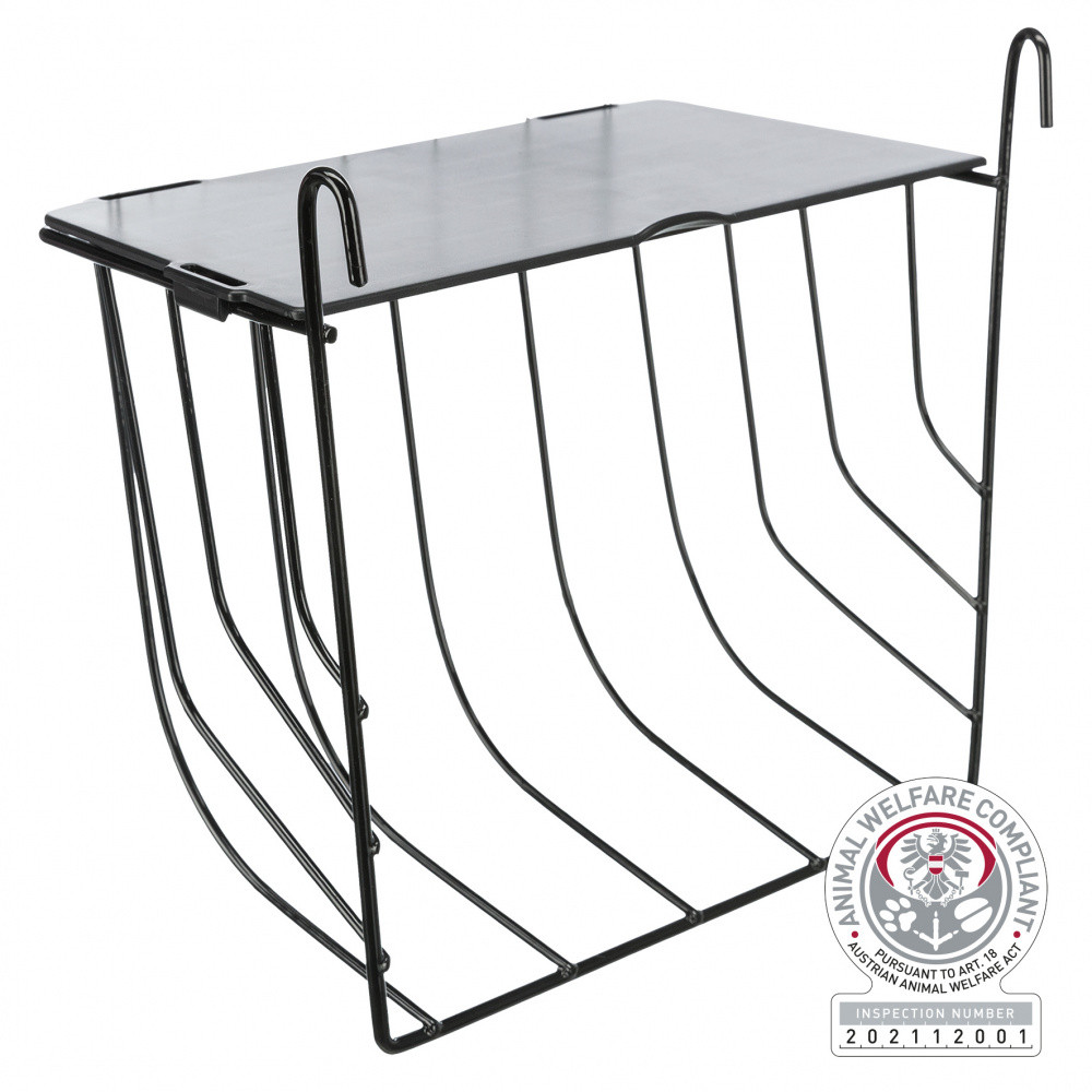 Trixie Hanging hay rack with lid, size 20 x 18 x 12cm. for rodents. Raterier