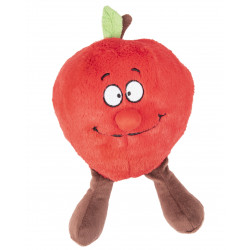 Flamingo Pet Products Red apple fruity plush, 24 cm. for dog. Peluche pour chien