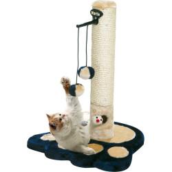 Flamingo Pet Products Cat Scratch Board, ø 36 cm, H 51 cm, Viva 2 blue, for cats. Griffoirs