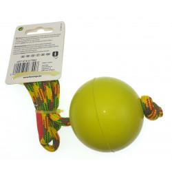 Flamingo Pet Products Ball with rope. green . 58 cm. for dog Balles pour chien