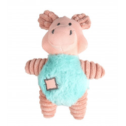 Flamingo Pet Products Small dog plush IKRA Pink pig. 23 cm. for dog Peluche pour chien
