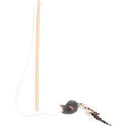 Flamingo Pet Products 1 Canne à pêche SUAVA .20 cm. jouet pour chat. couleur aléatoire. Jeux