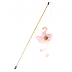 Flamingo Pet Products Barbarina pink fishing rod 45 cm. cat toy. Games