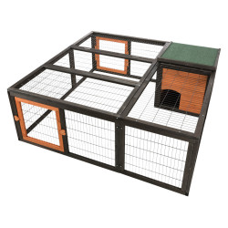 Trixie Enclosure with cover, Size: 150 × 53 × 150 cm. for rabbits and small animals. Hutchman