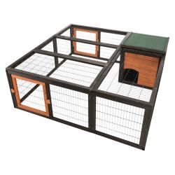 Trixie Gehege mit Deckel, Größe: 150 × 53 × 150 cm. für Kaninchen und Kleintiere. TR-62286 Hutchman
