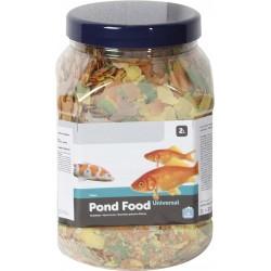 FL-1030467 Flamingo 2 litros, comida de estanque en escamas. Comida y bebida