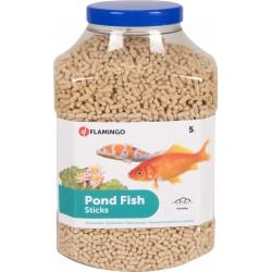FL-1030466-X01 Flamingo 5 litros, comida para peces de estanque, palitos de 4 mm. Comida y bebida