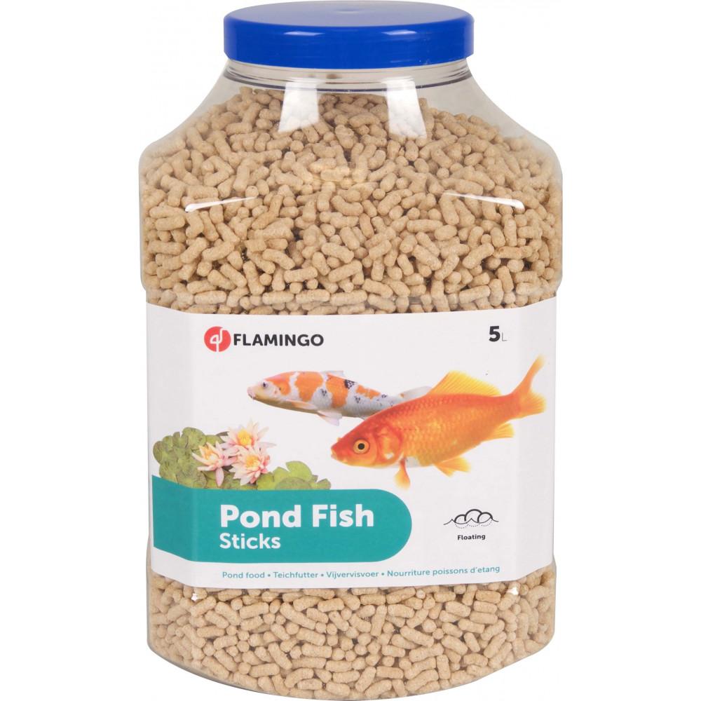 Nourriture poisson d'étang, Sticks 4 mm - 5 Litres Nourriture  Flamingo FL-1030466-X01